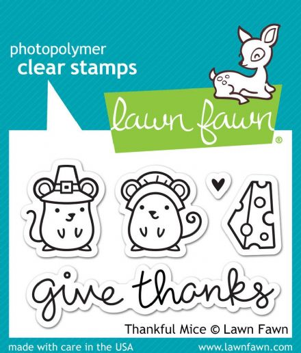 LF0936 S ~ THANKFUL MICE ~ CLEAR STAMPS BY LAWN FAWN